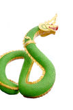 Green Serpent statue. Stock Photography