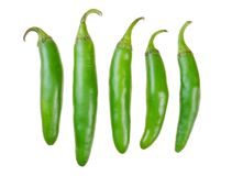 Green serrano peppers Stock Image