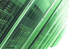 Green Servers Royalty Free Stock Images