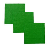 Green serviettes aka napkins isolated over white Royalty Free Stock Photo