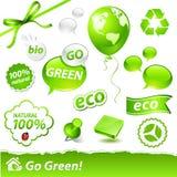 Green set Royalty Free Stock Photos