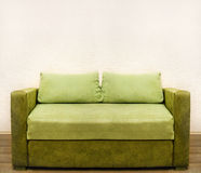 Green Shabby Sofa Royalty Free Stock Photo