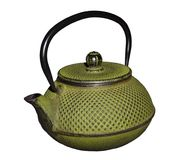 Vintage cast-iron patterned oriental teapot isolated on white background Royalty Free Stock Photo