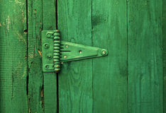 Green shack detail. Detail of old wooden shack Stock Photos
