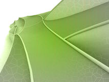 Green shaded shape design wide screen Stock Image