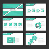 Green shadow Infographic elements icon presentation template flat design set for advertising marketing brochure flyer Royalty Free Stock Photos