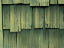 Green Shake Shingles Royalty Free Stock Photography
