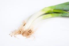 Green Shallot. Isolate on white background Stock Photo