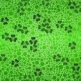 Green shamrock beer background Stock Images