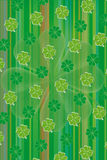 Green shamrock leaf vector background Stock Image
