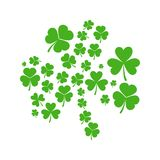Green Shamrock made of shamrocks - vector illustration. Green Shamrock made of small shamrocks - vector concept St Patricks Day illustration Royalty Free Stock Image