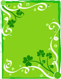 Green shamrocks foliage. Decorative green shamrocks foliage design Royalty Free Stock Photos