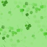 Green shamrocks - seamless pattern. Irish seamless green shamrock St. Patrick Day Stock Image