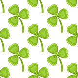 Green Shamrocks Seamless Pattern Stock Photography