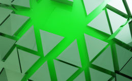 Green shape abstract background. Nice green shape abstract background wallpaper Stock Photo