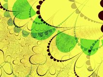 green shapes yellow Royaltyfri Foto