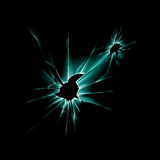 Green Shattered Glass Window with Sharp Edges vector illustration
