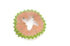 Green Shavings from pencils Royalty Free Stock Images