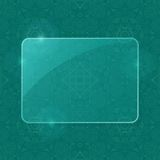 Green Sheet of Glass Framework on Pattern Royalty Free Stock Images