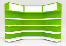Green shelves Royalty Free Stock Photography