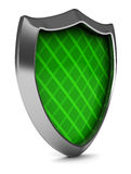 Green shield Stock Image