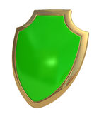 Green shield Stock Photography