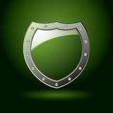 Green shield blank Stock Image