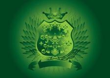 Green shield gothic Stock Photos