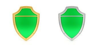 Green shield Royalty Free Stock Photo