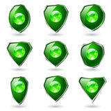 Green shields. Stock Images