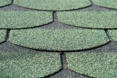 Green shingle background pattern close-up royalty free stock photo
