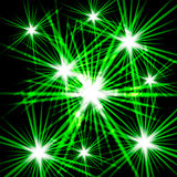 Green shining cosmic light Royalty Free Stock Images