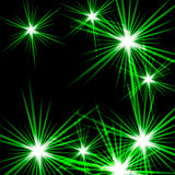 Green shining cosmic light Royalty Free Stock Image