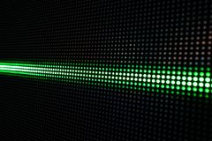 Green Shining Dots Background, Network Concept. Abstract Background with Green Lights, Green Stretch of LED Lights, Shiny Dots, Dark Green Cool Background royalty free stock photography