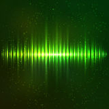 Green shining light vector equalizer Stock Photos