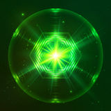 Green shining techno vector sphere Royalty Free Stock Photos