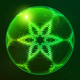 Green shining techno vector sphere Royalty Free Stock Photo