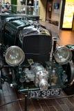 Green Bentley veteran in Beaulieu Museum. Green shiny beautiful Bentley Blower veteran in Beaulieu Car Museum Stock Photo