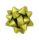 Green shiny bow. For gift box Stock Image