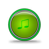 Green shiny button with elements Royalty Free Stock Image