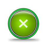 Green shiny button with elements Royalty Free Stock Images