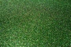 Green shiny Christmas lights. stock image