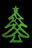 Green shiny Christmas Tree Stock Photo
