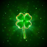 Green shiny clover Royalty Free Stock Photography