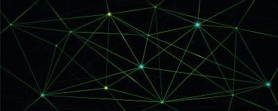 Green shiny digital network technical background stock illustration
