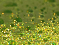 Green Shiny Drops Background Stock Photos