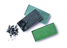 Green shiny eyeshadow Royalty Free Stock Photo