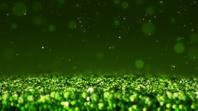 Green shiny glitter seamless loop abstract texture close up macro background