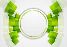 Green shiny hi-tech background Royalty Free Stock Photos