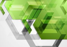 Green shiny hi-tech geometric background. Vector design Stock Image